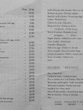 La carta del 'Juan Pérez': sardinas fritas a 15 pesetas