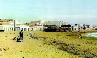 Foto coloreada de la caseta de Galán