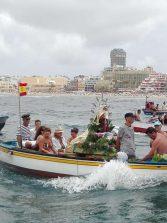 Este domingo se embarca la Virgen del Carmen por Las Canteras