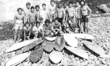 Una foto que es historia del surf de Las Canteras