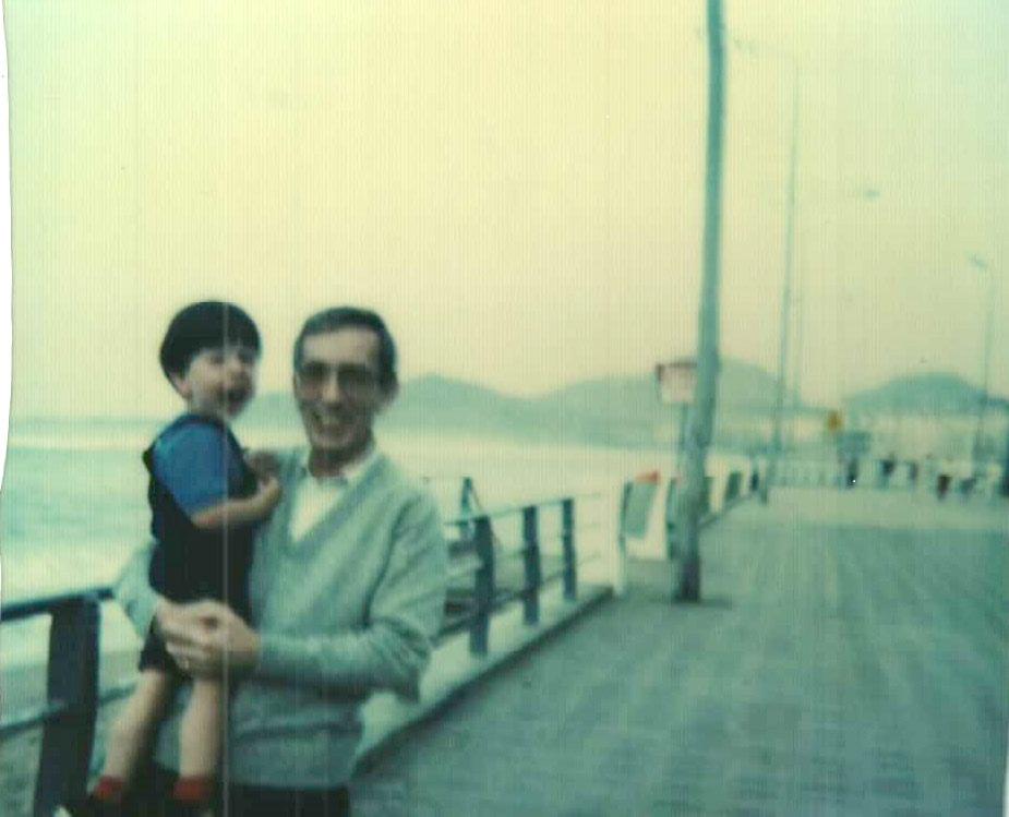 1982, Gerhard Rötting y su hijo