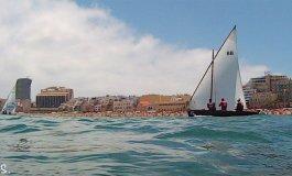 Jornada descafeinada en la liga de barquillos por falta de viento y de barcos
