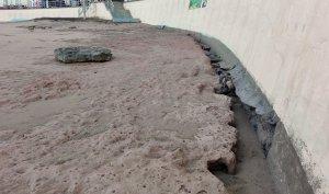 La Playa Chica sin arena