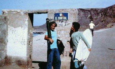 Entrada de El Confital. Finales de los 80