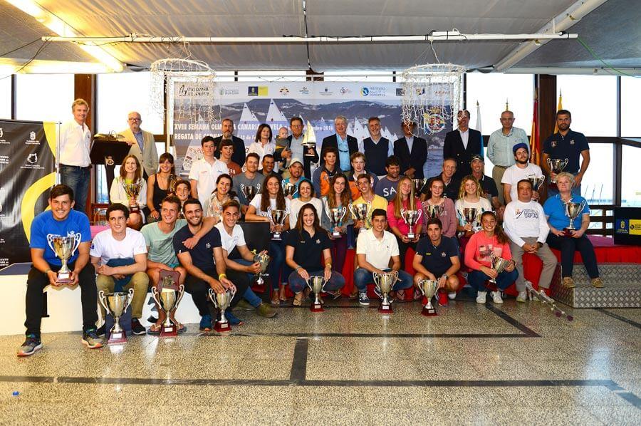 La bahía de Las Palmas coronó a los vencedores de la Semana Olímpica de Vela
