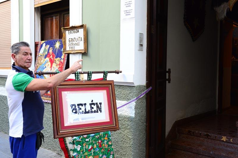 Joaquín nos invita a ver su Belén