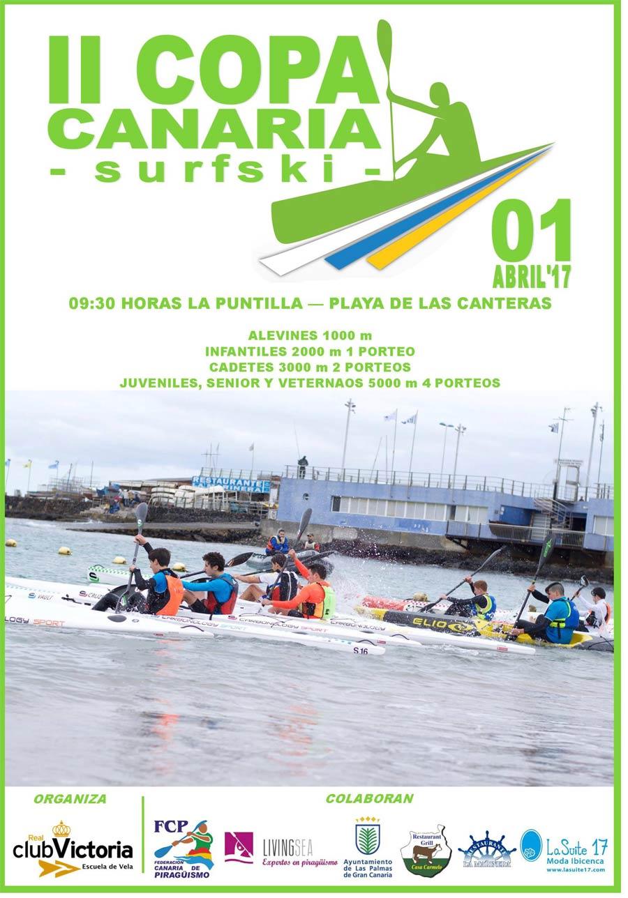 Este sábado II Copa Canaria de Surfski en Las Canteras
