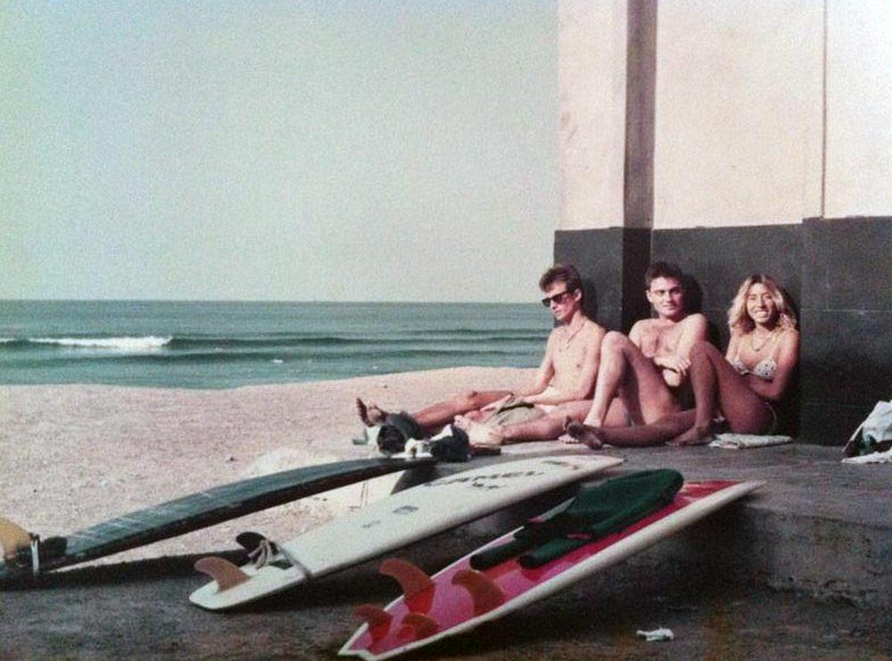 Chari y dos amigos en la Cicer de los 80