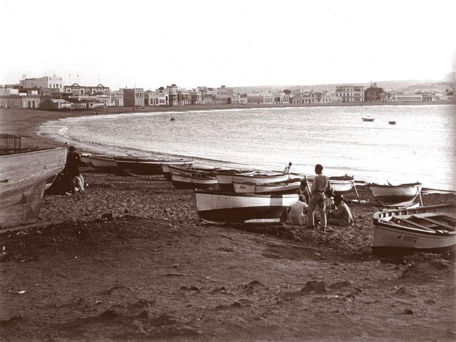 La playa de Las Canteras en 1930
