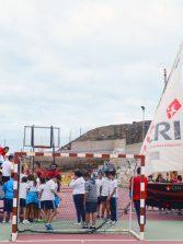 Los barquillos de vela latina canaria animaron la celebración del Día de Canarias