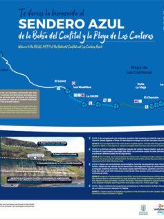 El sendero azul de Las Canteras, recorrido virtual