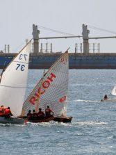 Nuestros barquillos de vela latina, protagonistas en las fiestas del barrio marinero de San Cristóbal