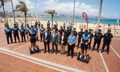 Los GOIA y policías en segways eléctricos reforzarán en verano las playas capitalinas