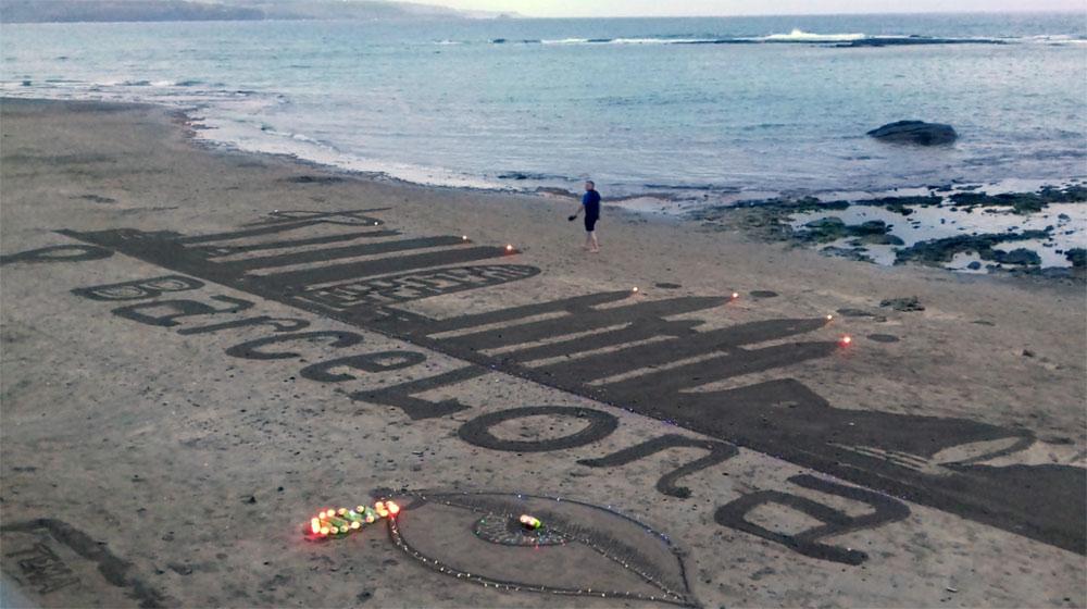 Las Canteras homenajea a Barcelona