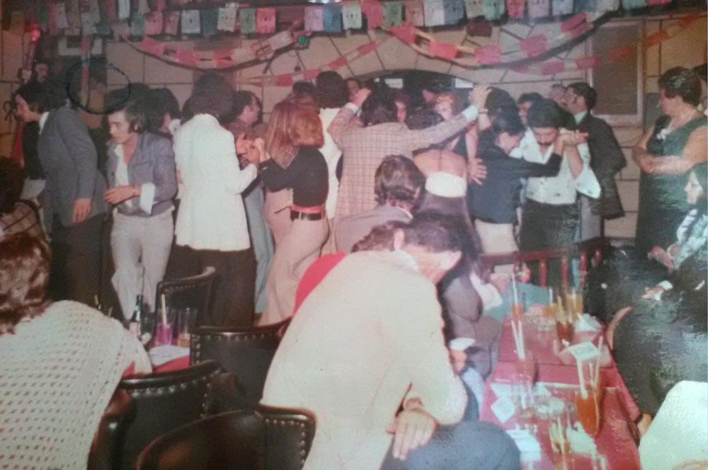 Ambiente en el Cintra Club 1974