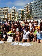 50 jugadoras disfrutaron del tenis playa en Las Canteras