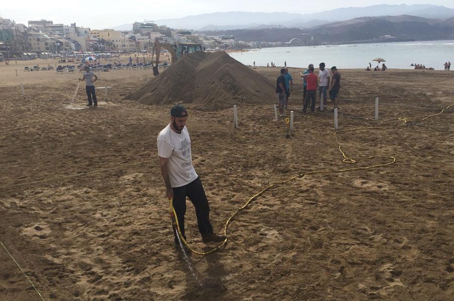 Comienzan las obras del Belén de arena 2017