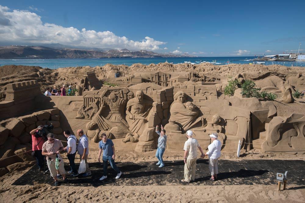 A pesar de la pandemia habrá Belén navideño de arena en Las Canteras