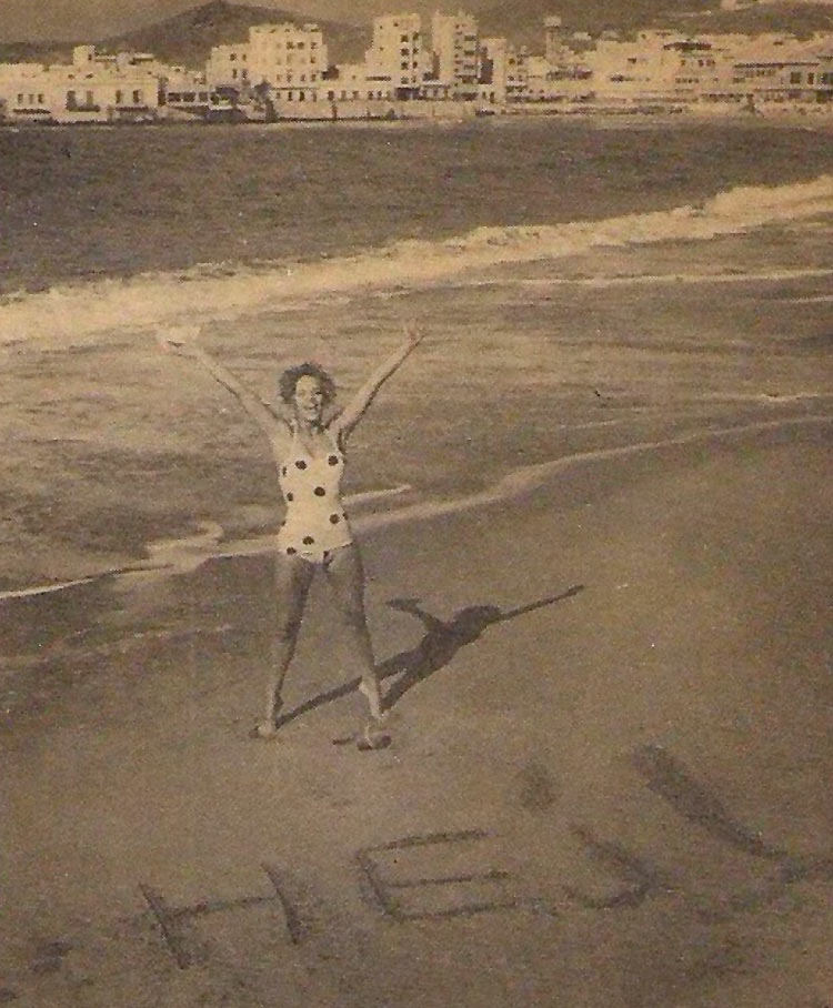 1960, la cantante sueca Lill-Babs en Las Canteras