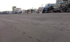 El desnivel de la Playa Grande