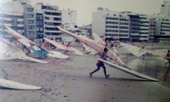 Regata de windsurfing en Las Canteras