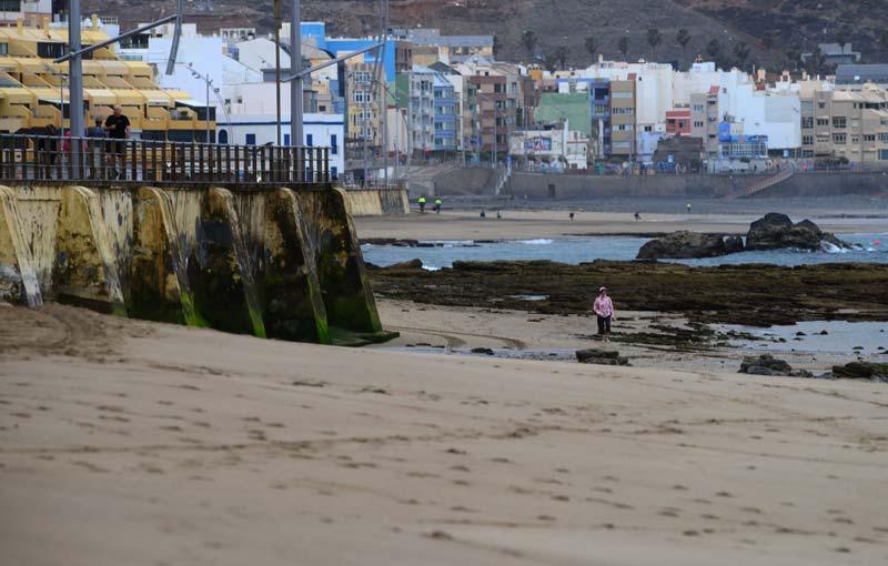 Los desniveles de la playa