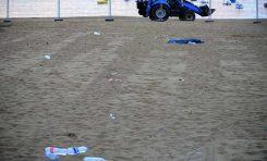 Lamentables imágenes de la playa donde se instaló el escenario de la noche de San Juan