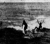 1972,  la playa de la Cicer celebra su primer campeonato de surf