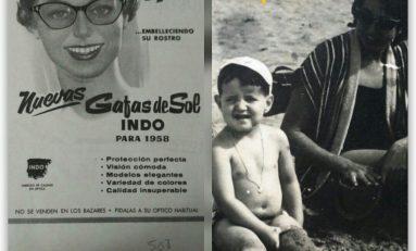 José Manuel Maldonado y su tía Mercedes en 1958