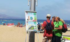 El Ayuntamiento lleva a las playas la campaña de sensibilización contra el cambio climático