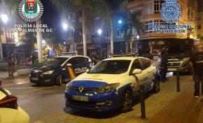 Policía Nacional y Policía Local realizan un operativo conjunto en la zona de ocio de Guanarteme-Farray