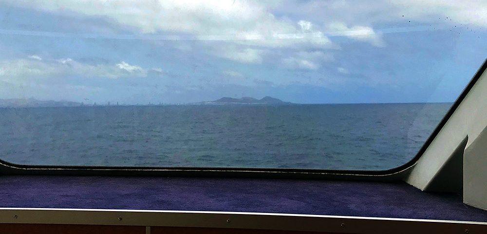 La silueta de los volcanes de La Isleta