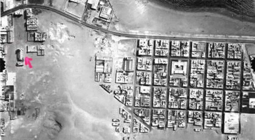 Una imagen aérea nos da otra perspectiva de la famosa foto entre las dunas de la Iglesia del Pino