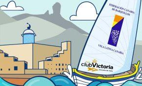 Barquillos de vela latina de 5 islas regatearan por el titulo de Canarias en la Bahía de El Confital