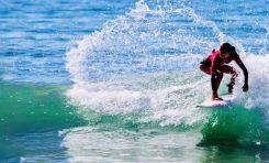 La surfera Lucía Machado, local de la Cicer, cuarta en el mundial sub 16
