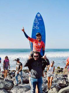 Iballa Ruano y Sean Poynter se proclaman Campeones del Mundo de Paddle Surf, en la modalidad de olas, en el Lloret