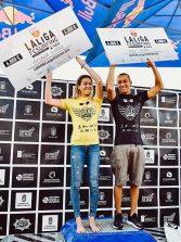 Yael Peña y Melania Suárez consiguen los títulos nacionales de La Liga FeSurfing 2018 y se adjudican el Open LPA Surf City 2018