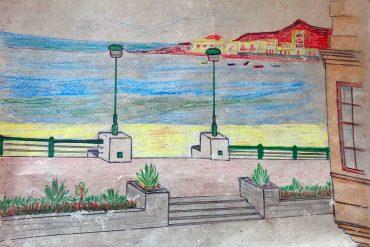 Un dibujo de Las Canteras del año 1944