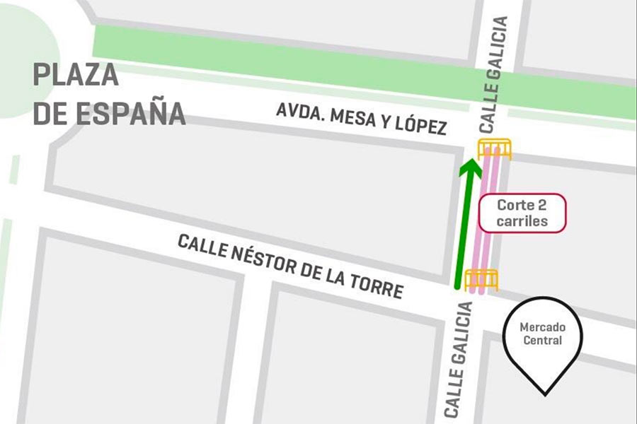 La Calle Galicia cerrará al tráfico dos de los tres carriles del tramo que conecta Néstor de La Torre con Mesa y López (contenido patrocinado)