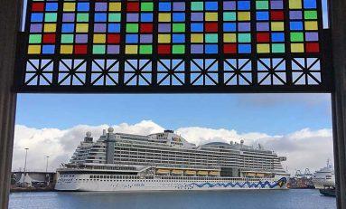 Los cruceros se consolidan en la postal navideña de Las Palmas de Gran Canaria