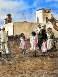 Las Canteras coloreada 1905