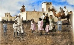 Las Canteras coloreada 1905
