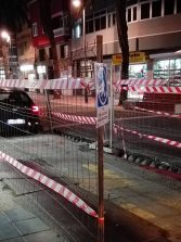 La obra de peatonalización de Luis Morote parada desde hace semanas