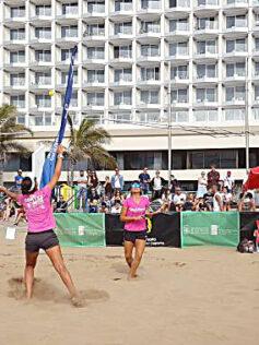 La Liga Mapfre trae a la playa de Las Canteras al mejor tenis-playa nacional