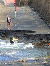 La canalización del barranco de la Ballena no impedirá que las correntías lleguen a Las Canteras