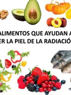 Alimentos que ayudan a proteger la piel de la radicación solar