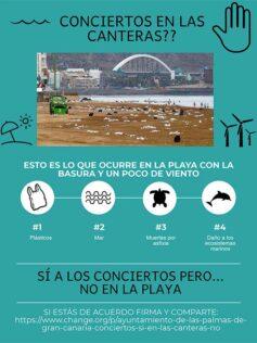 Nota de la Asociación para la conservación de la Naturaleza Latitud Azul sobre el concierto del día 23 en Las Canteras