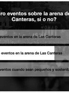 L@s playeros no quieren macro eventos sobre la arena de Las Canteras. Resultado de una encuesta