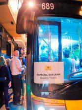 Guaguas Municipales despliega un dispositivo especial con 50.000 plazas para los festejos de la Noche de San Juan en Las Canteras