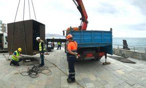 """Se reinstala la escultura """" Luces en el Vacío """" en Los Nidillos"""